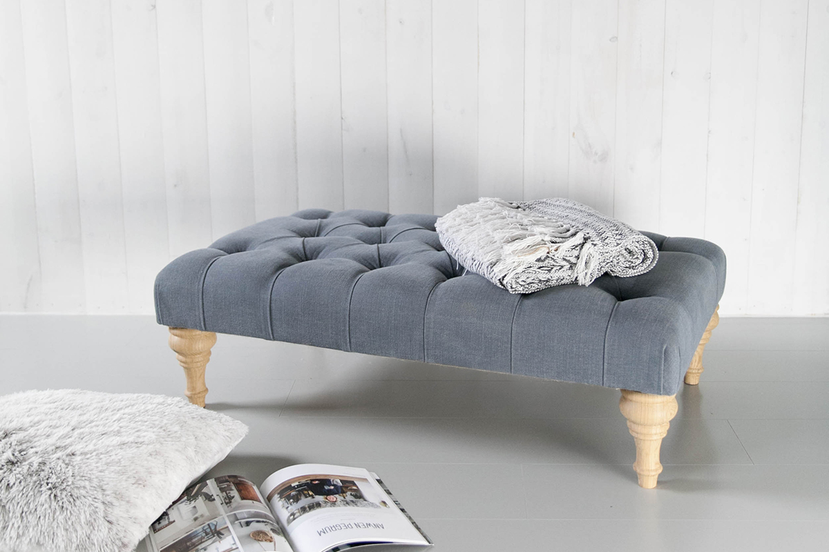 buttoned footstool