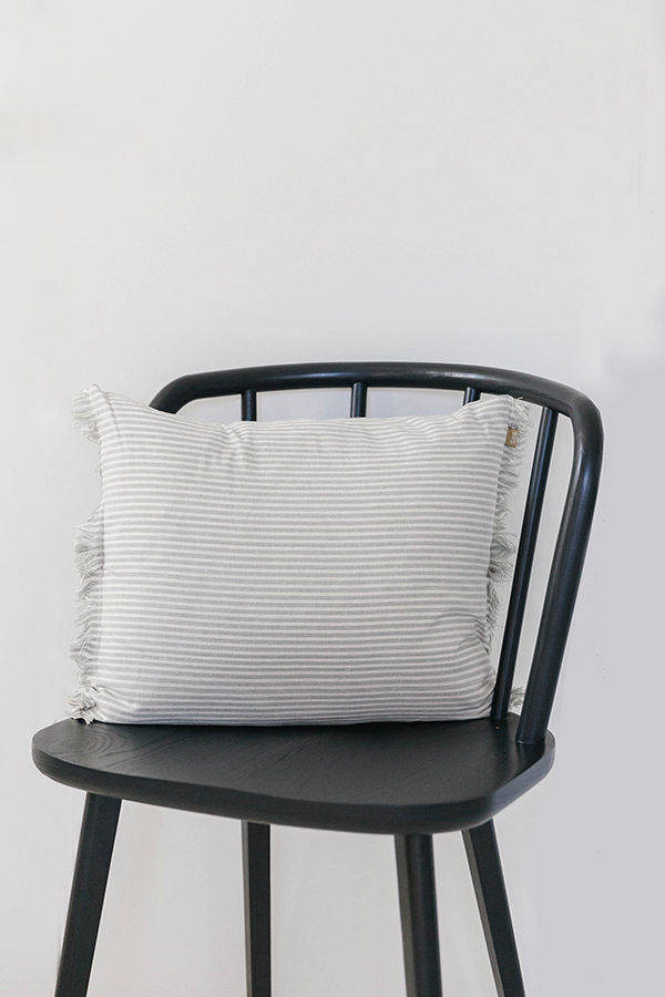 Blue stripe cushion